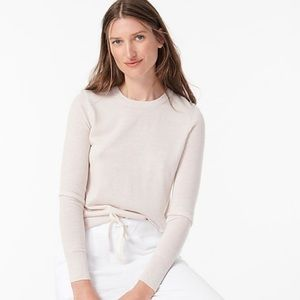 J crew Margot crewneck sweater heather flax xs